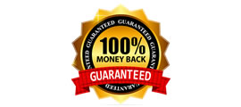 100 percent money back guarantee side banner