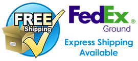 Free Fed Ex Ground shipping with express options availble
